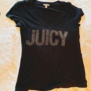 JUICY v-neck tshirt with rhinestones